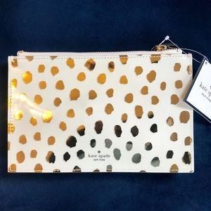 Kate Spade Flamingo Dot Pencil Pouch w/Accessories